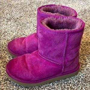 Ugg magenta boots Sz 1